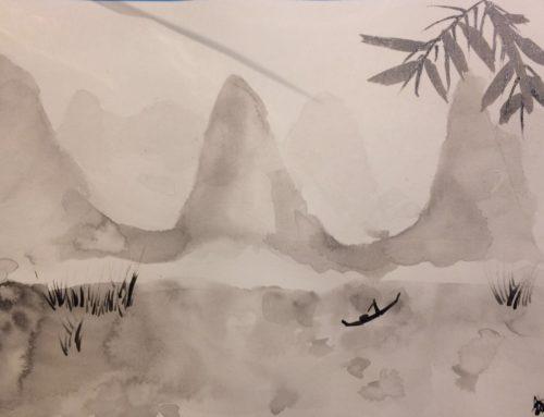 Réaliser un paysage à l'encre de chine en 2h30